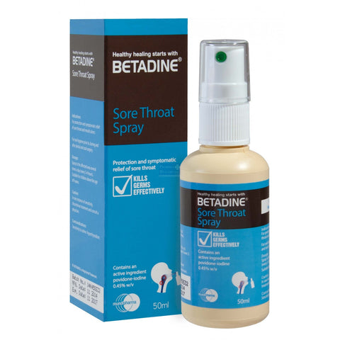 BETADINE SORE THROAT SPRAY {50ML/BOT}