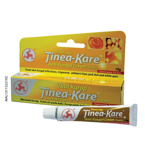 3 LEG TINEA KARE ANTI FUNGAL CREAM {10GM}