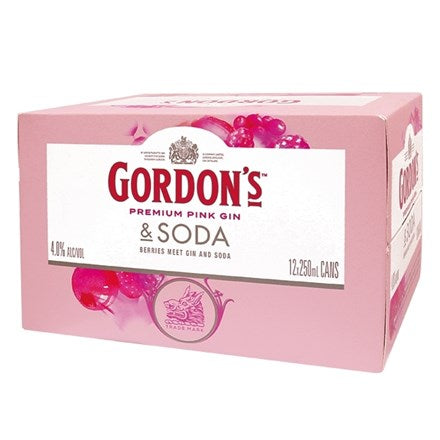 Gordons Pink 12pk cans
