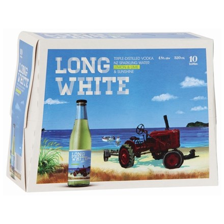 Long White Lemon Lime 10pk btls