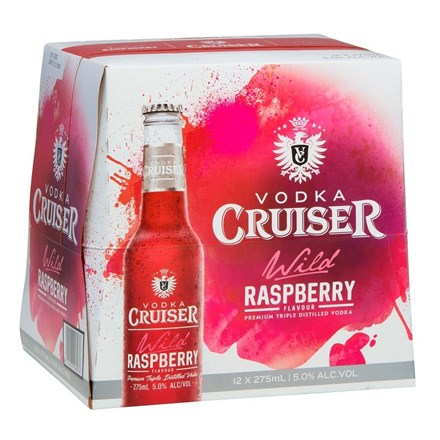 Vodka Cruiser Raspberry 12pk btls