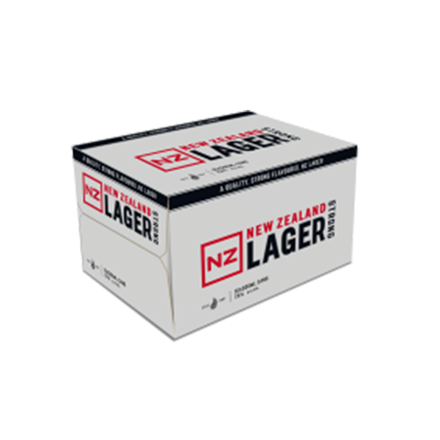 NZ Lager strong 500ml 12pk cans