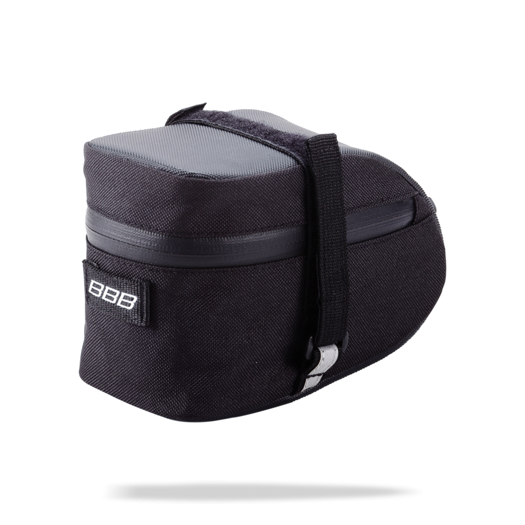 Medium sized, black, cycling saddle bag from BBB. BSB-31