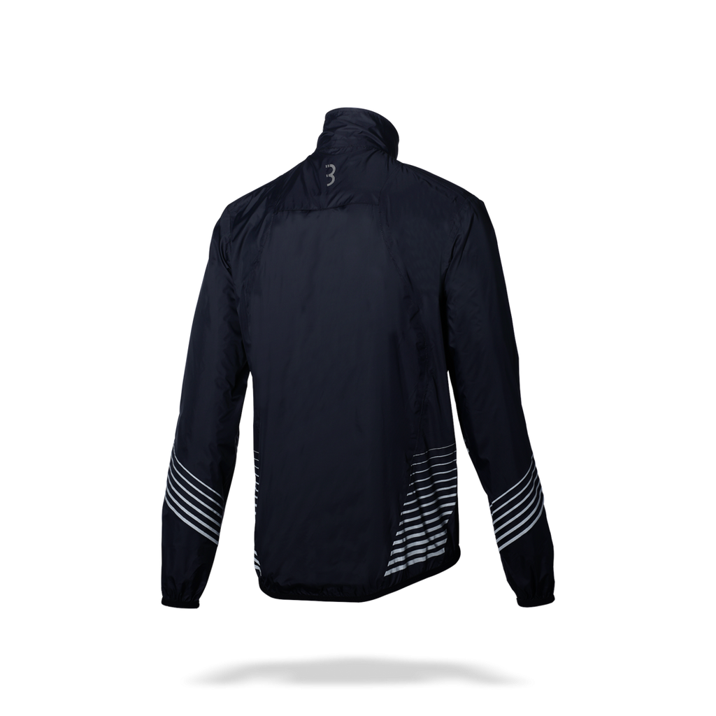 Black waterproof rain jacket from BBB. BBW-281