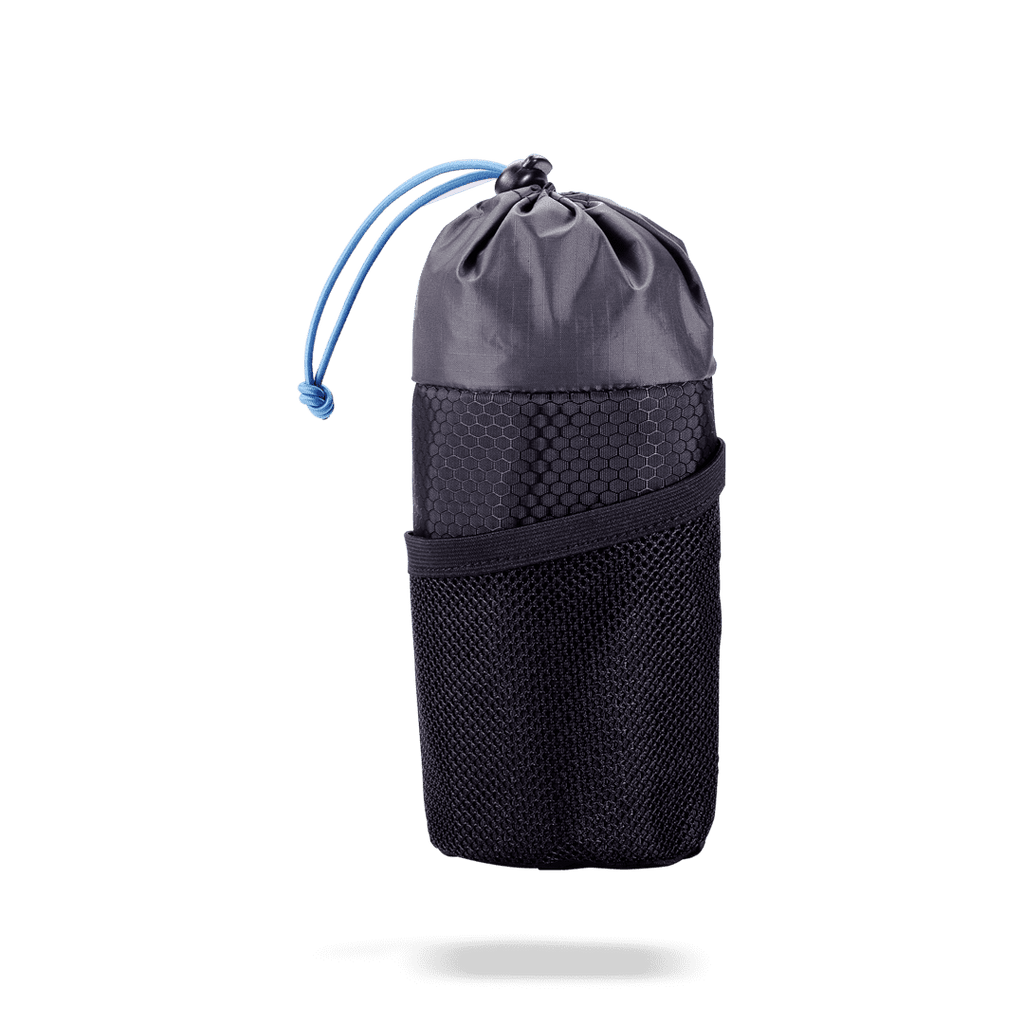 Black, snack and water bottle carrying bag for your handlebars from BBB. BSB-20