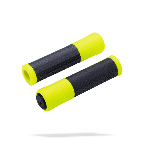 Black and neon yellow handlebar grips from BBB. BHG-97