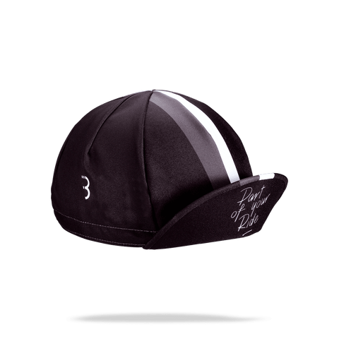 Black, striped cycling cap from BBB. BBW-253