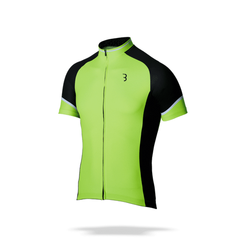 Neon yellow and black mens cycling jersey. BBW-250