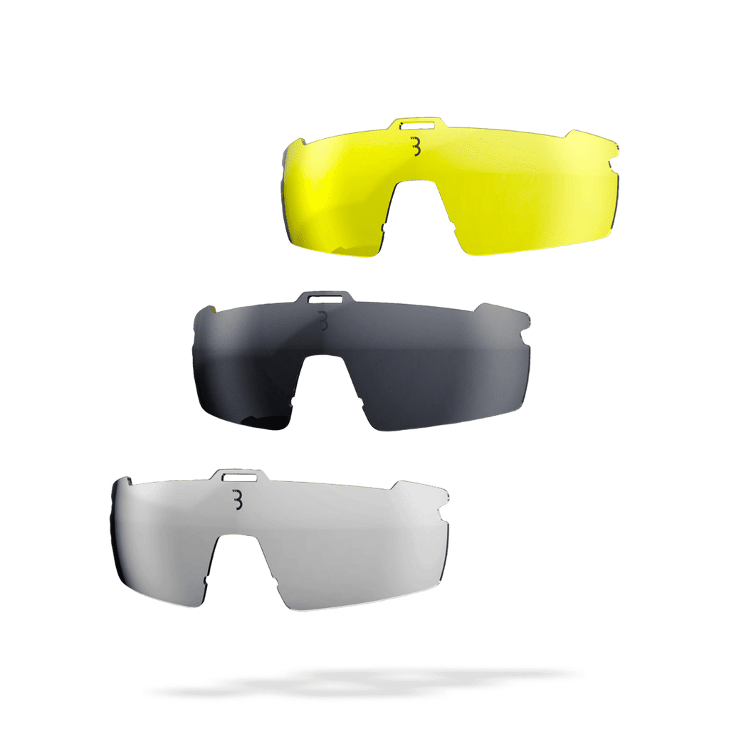 Low light, bright light, and clear lenses cycling lenses for BSG-57 sunglasses