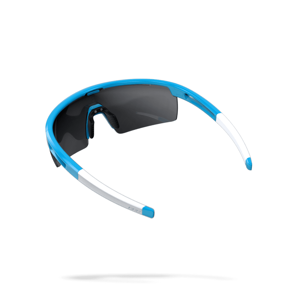 Blue and white cycling sunglasses from BBB. BSG-57