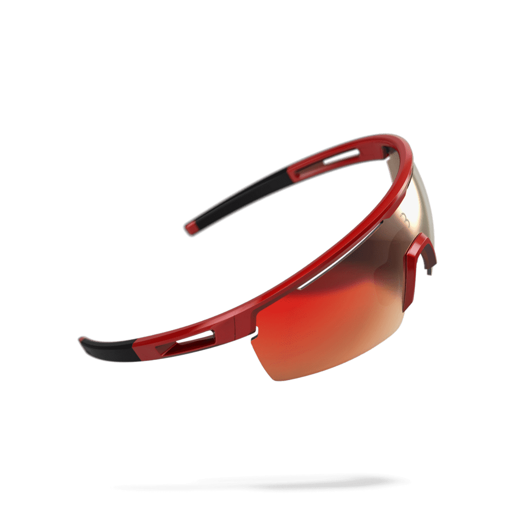 Red and black cycling sunglasses from BBB. BSG-57