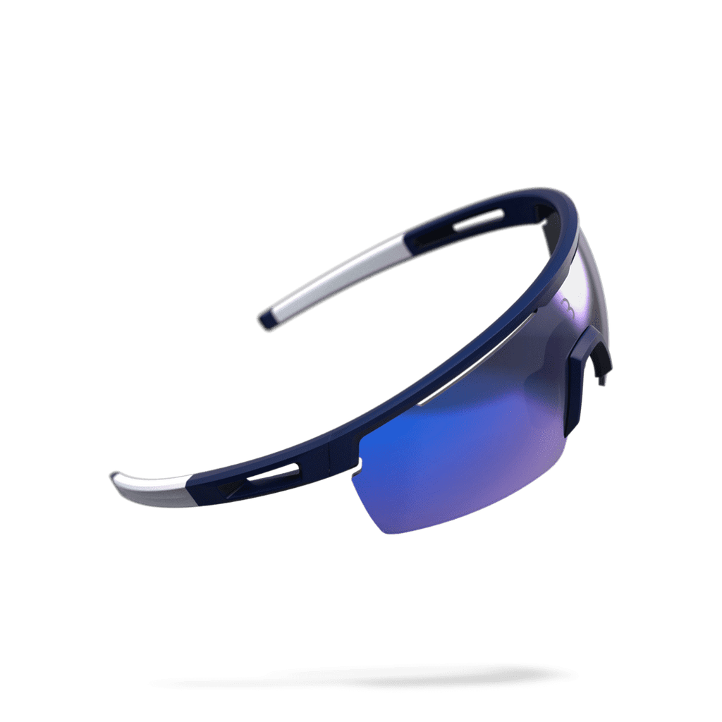 Dark blue and white cycling sunglasses from BBB. BSG-57
