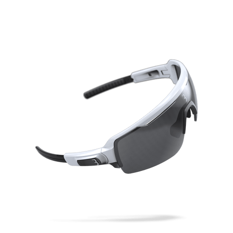 White and black cycling sunglasses from BBB. BSG-61