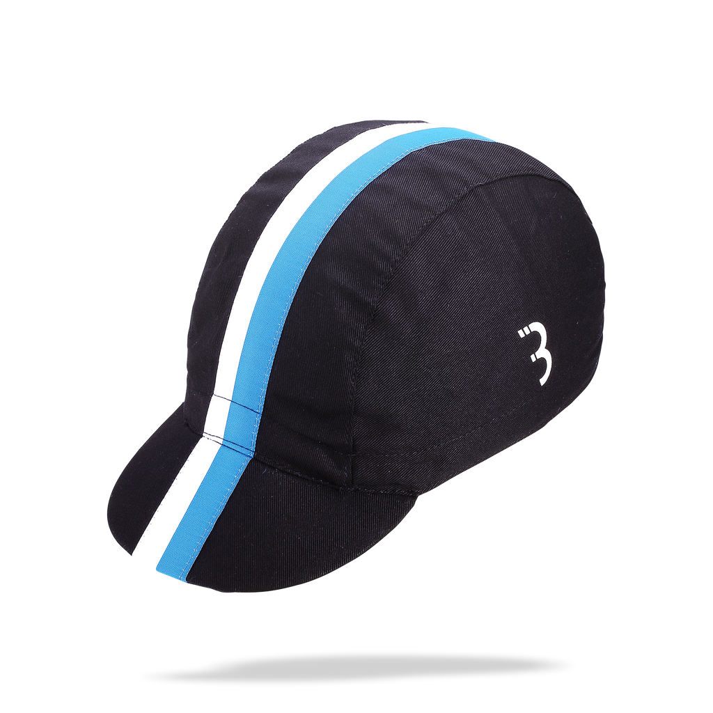 Black, striped cycling cap from BBB. BBW-257