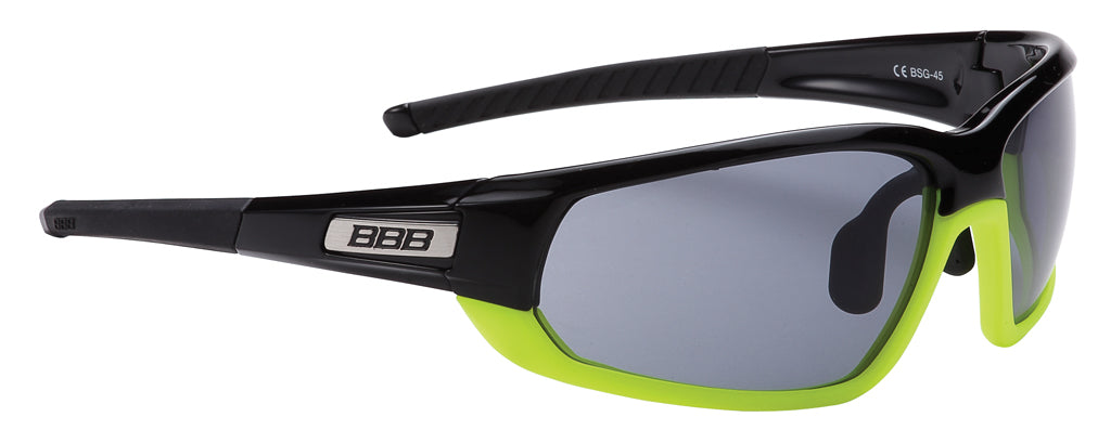 Black and yellow cycling sunglasses from BBB. BSG-45