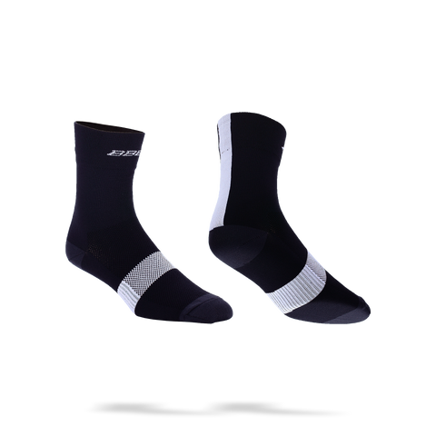 Black with white stripe cycling socks from BBB. BSO-07