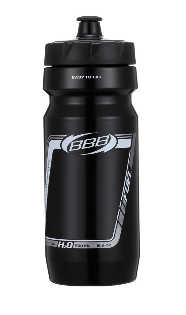 Black 18oz cycling water bottle from BBB. BWB-01