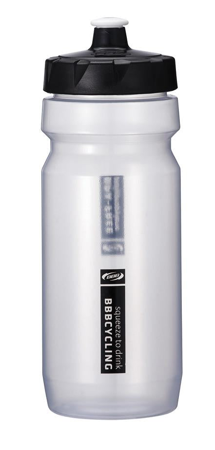 Clear 18oz cycling water bottle from BBB. BWB-01