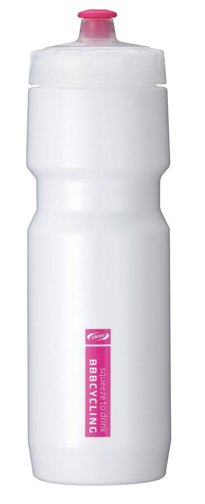 White 26oz cycling water bottle from BBB. BWB-05