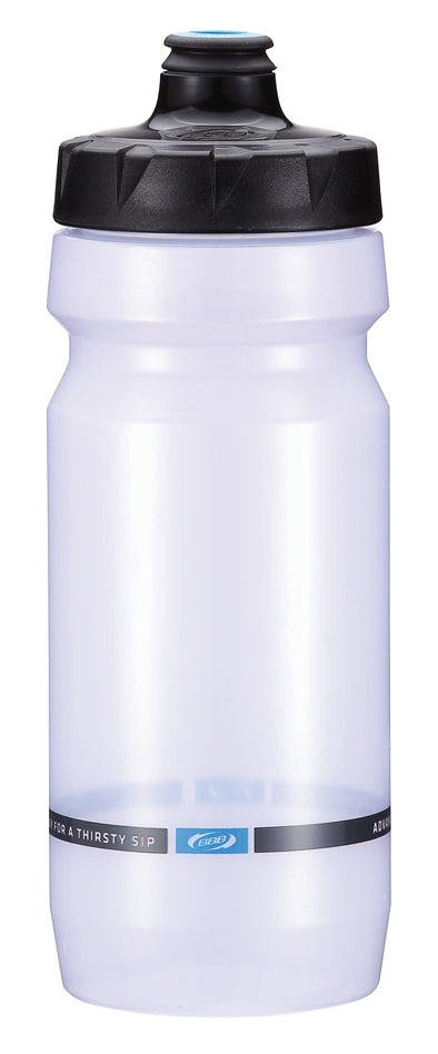 Clear 18oz cycling water bottle from BBB. BWB-11