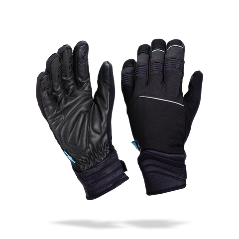 Black winter cycling gloves from BBB. BWG-32