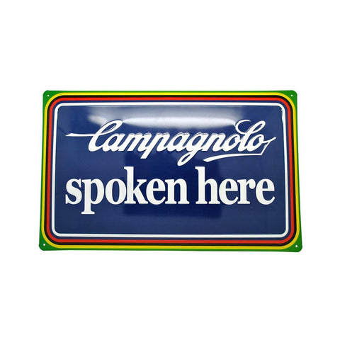 Campagnolo Spoken Here Tin Signage
