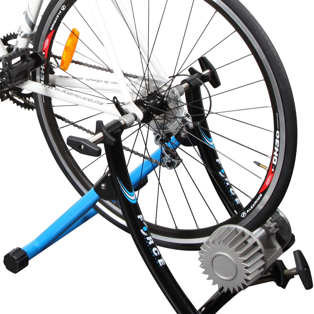 Indoor fluid bicycle static trainer