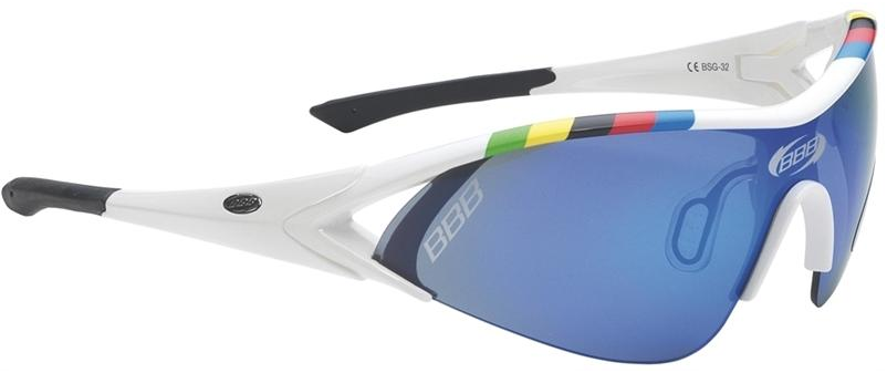 White, cycling sunglasses from BBB. BSG-32