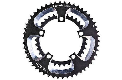 Praxis Works Road Chainrings - Black/Silver
