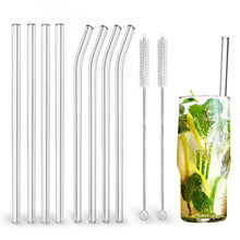 Load image into Gallery viewer, Glass Straws Eco Friendly Reusable