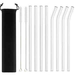 Glass Straws Eco Friendly Reusable