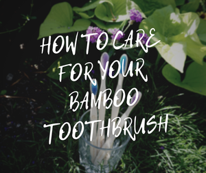 HOW TO CARE FOR YOUR BAMBOO TOOTHBRUSH