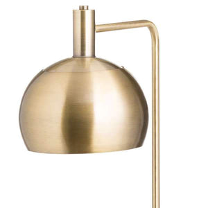Marble And Brass Industrial Adjustable Floor Lamp | Fern Interiors UK