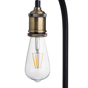 Industrial Black And Brass Desk Lamp Inc Bulb | Fern Interiors UK