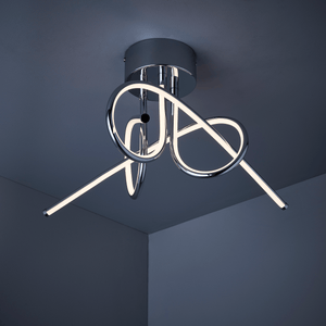 LED | Chrome finish | Semi flush ceiling light | Fern Interiors UK
