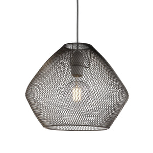 Modern, metallic mesh easy fit ceiling pendant lampshade Chrome finish