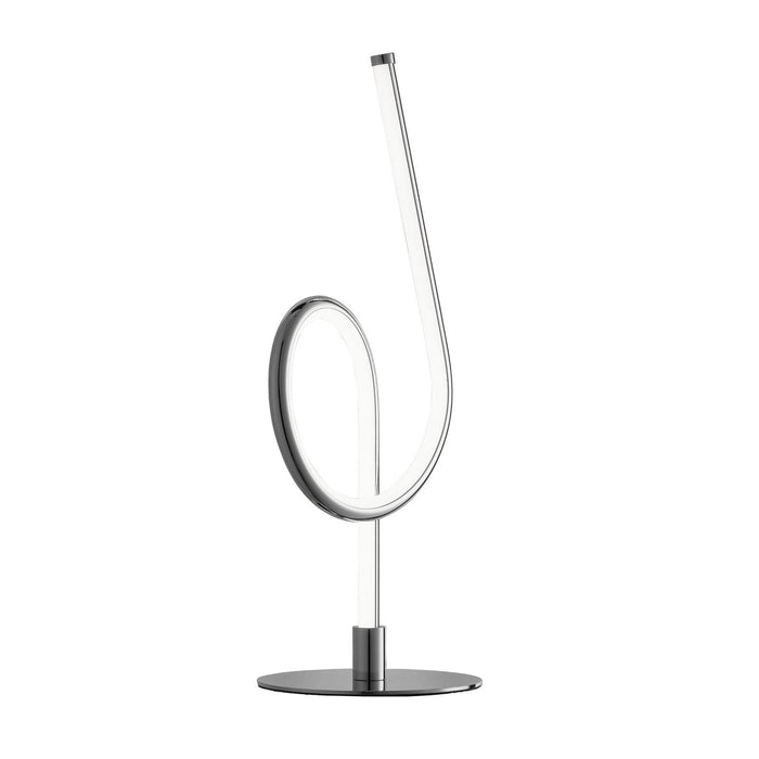 Chrome finish Integrated LED hoop table lamp