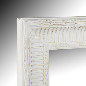 Carved White with brushed gold detail wall mirror 85cm x 70cm