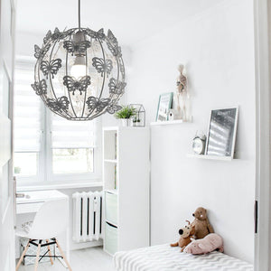 Butterfly themed easy fit ceiling pendant