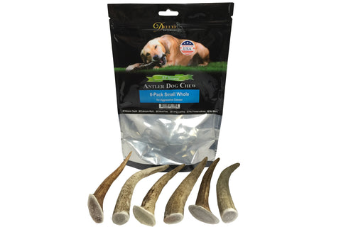 6-Pack Small Whole Elk Antler Chew