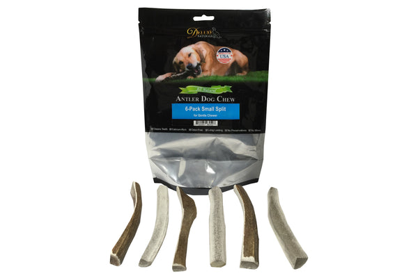 6-Pack Small Split Elk Antler Chew