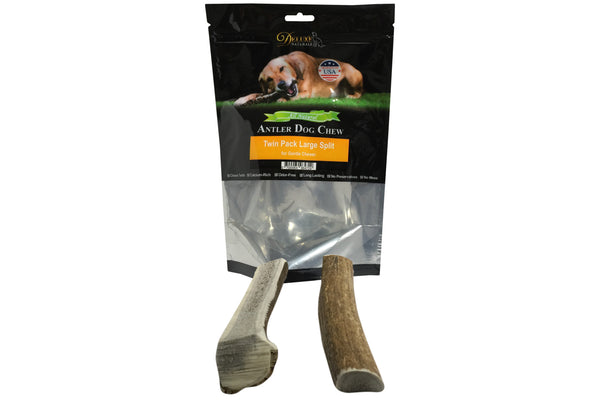 Twin Pack Large Split Elk Antler Chew