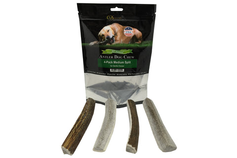 4-Pack Medium Split Elk Antler Chew