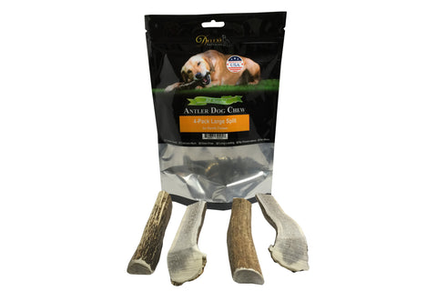 4-Pack Large Split Elk Antler Chew