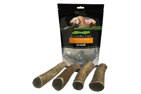 4-Pack Large Whole Elk Antler Chew