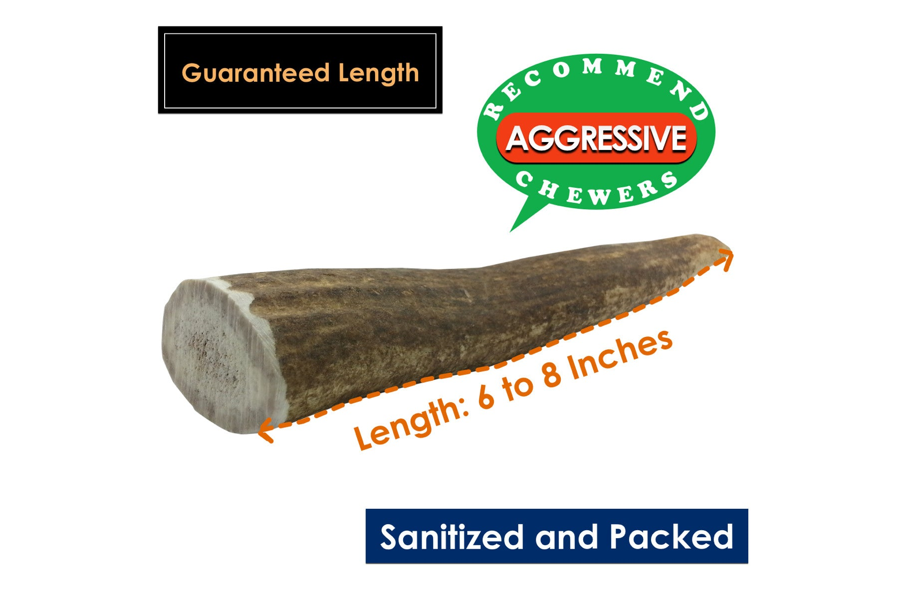 Twin Pack Large Whole Elk Antler Chew