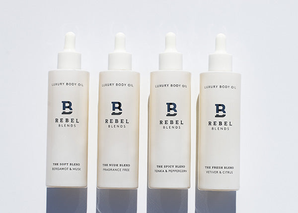Rebel Blends Body Oil Bottles