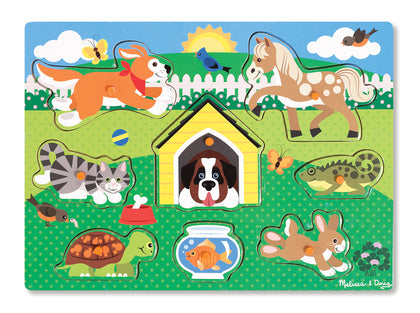 Melissa & Doug: Pets Peg Puzzle 8 Pieces