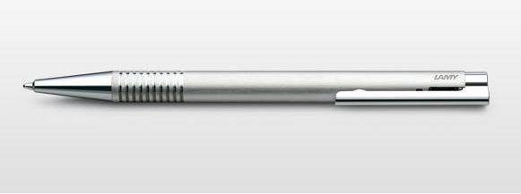 Lamy logo Ballpoint Pen - Brushed Steel
