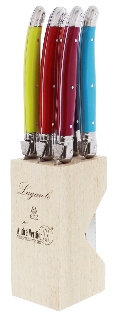Andre Verdier Laguioles Debutant Serrated Table Knives (6pc Knife Block)